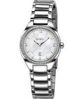 Precious 32mm Silver & crystals ladies watch with date