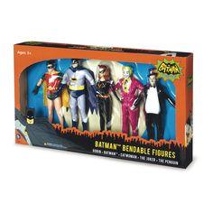 Batman Classic TV Series Bendable Boxed Set - Batman, Robin, Catwoman, The Joker & The Penguin