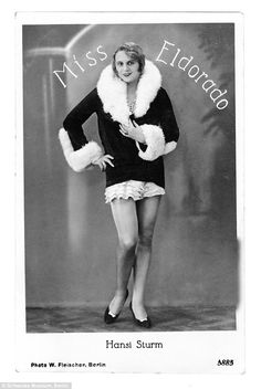Hansi Sturm, was the winner of the Miss Eldorado transvestite pageant in 1926 ((READ THIS ARTICLE))