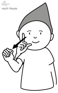 nach Hause Kindergebärden Babyzeichen Babyzeichensprache Babygebärden Gebärdensprache GuK