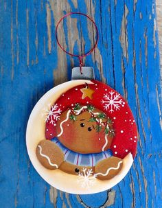 Over The Moon Gingerbread Ornament por CountryCharmers en Etsy
