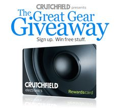 I just entered the Crutchfield Sweeps for a $500 Rewards Card for consumer electronics, you can too – #GGGEntry #win
