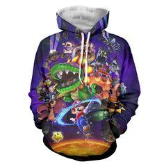 Super Mario Hoodie - Super Mario Sweat Shirt - Super Mario Jacket
