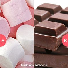Mashmellows or chocolate? Click here to vote @ http://getwishboneapp.com/share/14908522