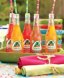 Mexican drinks from World Market Mexican Drinks, Mexican Party, Mexican Style, Mexican Food Recipes, Mexican Heritage, Mexican Themed Weddings, Mexican Birthday, Fiesta Party, Birthday Parties