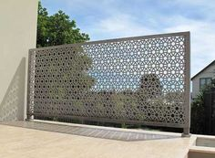 We provide all kind of Laser and CNC cutting work on these product Mdf metal steel Stainless Acrylic jali partition tree Aluminium railing g… – ELEVATION Brick Fence, Front Yard Fence, Pallet Fence, Metal Fence, Pool Fence, Backyard Fences, Garden Fencing, Fenced In Yard, Gabion Fence