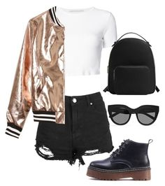 Sin título #10 by lucianalavazza on Polyvore featuring polyvore, fashion, style, Rosetta Getty, Sans Souci, Boohoo, MANGO, Le Specs and clothing