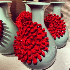 Vases from Anthropologie Washington Street, Vases, Raspberry, Anthropologie, Real Estate, Party, Decor, Decorating, Real Estates