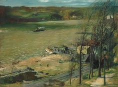George Bellows - Up the Hudson