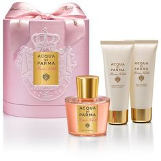 Acqua di Parma Rosa Nobile Gift Set (EDP, 100ml) (1.811.255 IDR) ❤ liked on Polyvore featuring beauty products, gift sets & kits, eau de perfume and acqua di parma