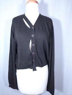 Rundholz Hi Lo Cotton Silk Cutout Cardigan Sweater Brown Size M | eBay