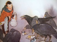 The Seven Ravens by the contemporary Austrian  book illustrator Lisbeth Zwerger.