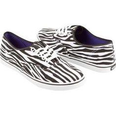 Lo Pro Vans, Black And White Zebra, Size 8.5