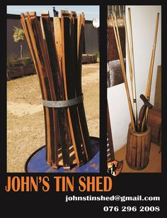 Pool Cue Holders Tin Shed, How To Remove Rust, Pool Cues, Plasma Cutting, Repurposed, Restoration, Great Gifts, How To Make, Products