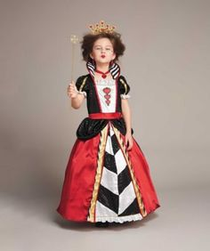 queen of hearts girls costume - Straight out of a fairytale comes this regal queen, who'll capture your heart.