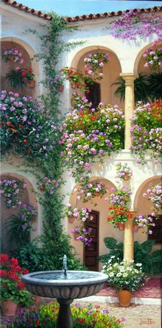 Tuscan style – Mediterranean Home Decor Beautiful Gardens, Beautiful Flowers, Beautiful Places, Rose Garden Design, Tuscan Style Homes, Warm Home Decor, Beautiful Nature Wallpaper, Dream Garden, Outdoor Gardens