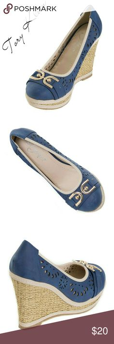 """Women Wedge Espadrilles with Buckle, HW-1674 Brand new Tory Klein woman gorgeous espadrilles with a stylish buckle in the front. Platform measures 4"""". Beautiful perforates design, cushioned sole, very comfortable. A true statement in ladies shoes fashion! Tory Klein  Shoes Espadrilles"""