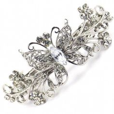 Vintage Butterfly Hair Clip (70 BRL) ❤ liked on Polyvore featuring accessories, hair accessories, butterfly hair accessories, silver butterfly hair clips, vintage hair accessories, hair clip accessories and silver hair clips