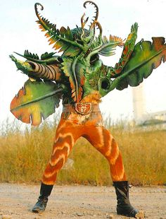 Weird Plant Kaijin [バショウガン] from Destron who fought with Kamen Rider V3.