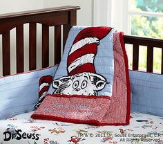 I love the Dr. Seuss™ Cat in the Hat Nursery Bedding on potterybarnkids.com... Just ordered for IZZY!!!