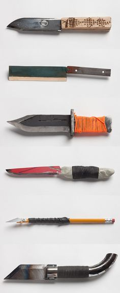 30 Homemade Knives by Chen Chen and Kai Williams - BOOOOOOOM! - CREATE * INSPIRE * COMMUNITY * ART * DESIGN * MUSIC * FILM * PHOTO * PROJECTS