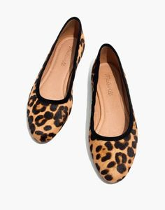 677009ec092 The Reid Ballet Flat in Leopard Calf Hair