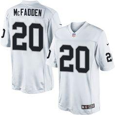 Limited Darren McFadden Mens Jersey - Oakland Raiders  20 Road White NFL  Darren Mcfadden d473c56c3