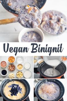 Here's one of the popular dessert and favorite snacks of Filipinos that is so creamy, milky and hearty – Binignit! It's so easy to cook, vegan and delicious. Check this out! :) Filipino Desserts, Filipino Recipes, Vegan Christmas Desserts, Vegetable Snacks, Purple Yam, Ube, Glutinous Rice, Root Vegetables, Yams