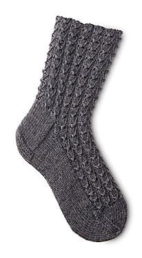 Mock Croc - not that I think I will actually knit myself socks, but I love the way these look.