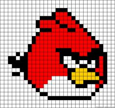 Angry Bird perler bead pattern - would be cute made into a pixel pillow
