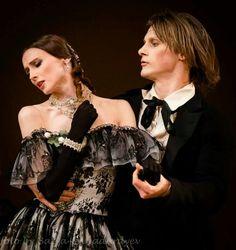 "NEW!!! Svetlana Zakharova (Bolshoi Ballet) as Marguerite and Edvin Revazov (Hamburg Ballet) as Armand in ""Lady of the Camellias"" at The Bolshoi Theatre Moscow...March 20, 2014..."