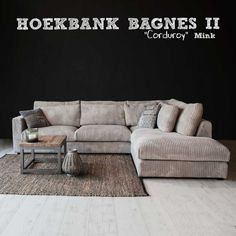 Ribstof Hoekbank