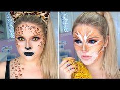 Sexy Leopard & Cute Tabby Cat! 2-in-1 Cat Halloween Tutorial!