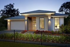 Clarendon Display Homes: Malvern 25 Contemporary Facade. Visit www.localbuilders.com.au/display_homes_nsw.htm for all display homes in New South Wales Clarendon Homes, One Storey House, Wood Architecture, New Home Builders, Display Homes, New Home Designs, Facade House, New Homes For Sale, Modern Houses