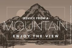 Designer Mountain Sticker: $3.50 each