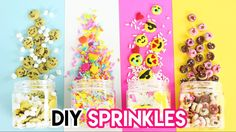 How to Make DIY Sprinkles (Emojis, Donuts, Funfetti, and Cookies)! - YouTube
