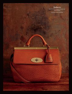 Mulberry- Small Suffolk in ginger shrunken calf leather. $2300. Exclusive to Holt Renfrew. #holtsmag