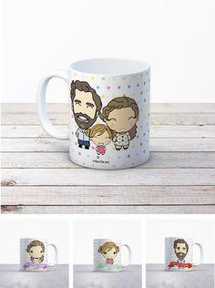 Rite Rite: Regalo original de boda. Tazas personalizadas familia