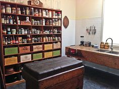 Upcycled kitchen Northcote. Salvage and vintage finds perfect.