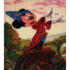 This collection is based on original paintings by Thomas Kinkade. Each painting is his interpretation of the most cherished and recognizable Disney characters. Latch hook kits come with acrylic rug ya