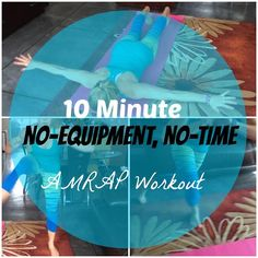 10 minutes. No equipment. Get this workout done in no time at all!