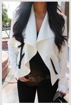 I want this white blazer