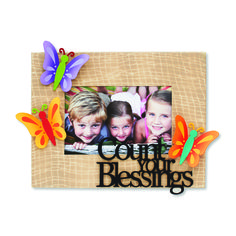 Create custom frames for all occasions. Change out colorful magnets and favorite photos for unique year round displays. Count Your Blessings and Butterfly Magnets from Embellish Your Story by Roeda.