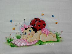 Coisas da Nil - Pintura em tecido: Joaninha baby.
