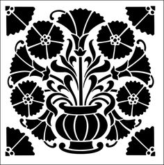 ornament stencil wand schablone greca decor barock damask xl wandschablone neu labels. Black Bedroom Furniture Sets. Home Design Ideas