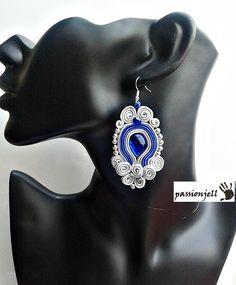 Soutache Cobalt Rome Earrings