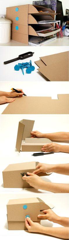 Easy Creative DIY Desk Trays Makedo Desk Tray