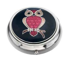 Owl on a Branch Pill Box by Sea Gems