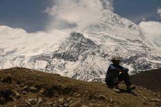 Trekking the Annapurna Circuit in Nepal.