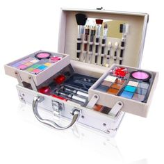 SHANY Cosmetics Holiday Makeup Set - 25pc Cosmetic Gift Set with Reusable Aluminum Carry on Case $34.95 #bestseller